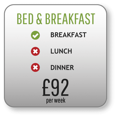 Bed and breakfast image price