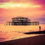 West pier in sunset