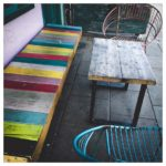 Chairs and bench in Brighton