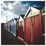 Brighton beach huts from the front