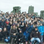 Group on a trip to stonehenge 02