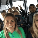 Group on the bus