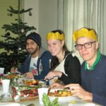 Christmas dinner with the students at Loxdale