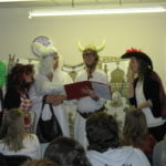 Drama class perform an English Panto