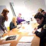 Art course doing artwork