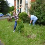 English plus course weeding the garden