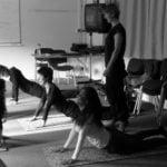 English plus class doing yoga
