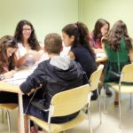 Students doing a group activity