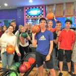 Students on a bowling trip