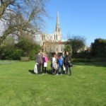 40+ group outside chichester cathedral 01