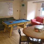 Pool table in the social room at Loxdale