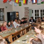 A murder mystery dinner in the dining room
