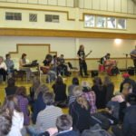 Music concert in the sports hall
