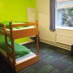 A bunk bed room at a residential home