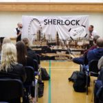 Sherlock Holmes performance in the sports hall