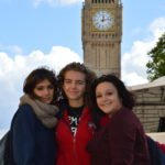 Students on a trip to London
