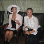 Students in costume for the murder mystery