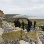 A group on a trip to the Seven Sisters
