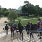 A group on a trip to the University of Sussex