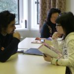 Young learner class interviewing adult students