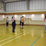 Dancing in the sports hall