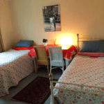 Residential home with twin beds