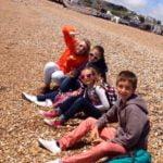Pre teen class at the beach