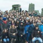 Group visiting stonehenge