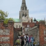 Group in front of Chichester cathedral