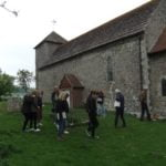 40+ on a tour round an old church