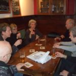 40+ group in a pub with beer