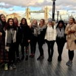 Girls on a trip to London