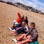 Young learner pre-teens on the beach