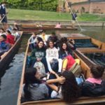 Teenager activity on a boat cambridge