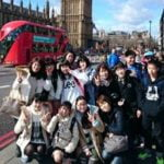 Loxdale students on a trip to london teens