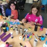 Arts and crafts session for young learner girls at our school
