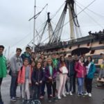 Loxdale students in front of the Cutty sark