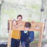 Students in a guillotine