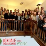 students group shot on the loxdale upper floor landing
