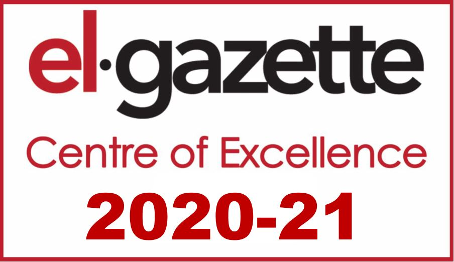 El-gazette review badge